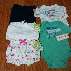 Bundle of 5 infant Clothes Size 0-3M new